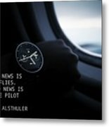 Time Quote Metal Print