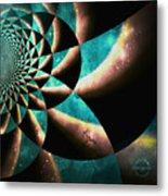 Time Travel Galaxy Portal To The Stars - Teal Green Metal Print