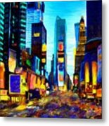 Times Square Metal Print by Andrea Meyer