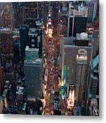 Times Square At Night Metal Print