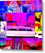 Times Square Frenzy Metal Print