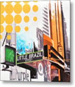 Times Square Little Brazil Metal Print