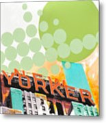 Times Square New Yorker Metal Print