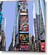 Times Square Nyc Metal Print by Kelley King