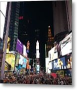Times Square On A Tuesday. Metal Print