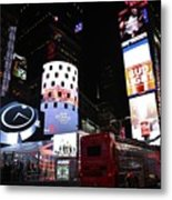 Times Square On News Year Eve Metal Print