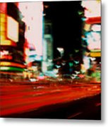 Times Square Painted Metal Print