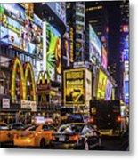 Times Square Pano Metal Print