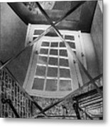 Time's Up - Black And White Metal Print