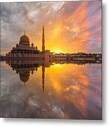 Timeslice A Day To Night Of By The Lake Metal Print