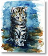 Timid Kitten Metal Print