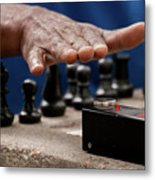 Timing The Chess Move Metal Print