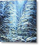 Tim's Winter Forest Metal Print