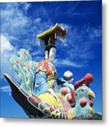Tin Hua Temple Closeup Of Colorful Statue Metal Print