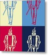 Tin Man Pop Art Poster Metal Print