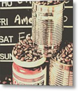 Tin Signs And Coffee Shops Metal Print
