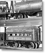 Tin Toy Trains Metal Print