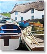 Tinker Taylor Cottage Sennen Cove Cornwall Metal Print
