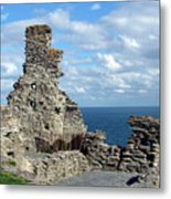 Tintagel Castle 1 Metal Print
