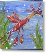 Tiny Anthropomorphic Sea Dragon 2 Metal Print