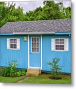 Tiny Blue House Metal Print