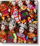 Tiny Chinese Dolls Metal Print