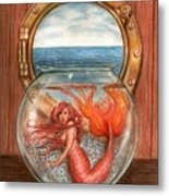 Tiny Mermaid Metal Print