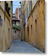 Tiny Street In Siena Metal Print