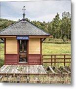 Tiny Train Station Barnet Vermont Metal Print