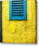 Tiny Window With Closed Shutter Metal Print