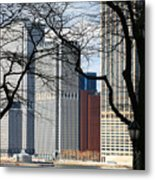 Tip Of Manhattan Metal Print