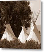 Tipis In Toppenish Metal Print