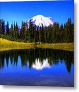 Tipsoo Lake And Mt Rainier Metal Print