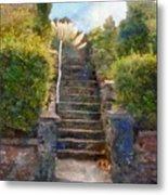 Tipsy Stairs Metal Print