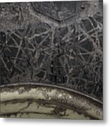 Tire And Mud Metal Print