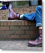 Tired Boots Metal Print