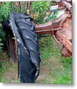 Tired Tractor Tire Metal Print