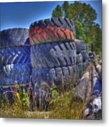 Tires Metal Print by Lawrence Christopher