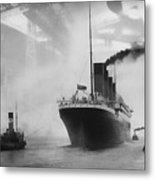 Titanic Metal Print by Chris Cardwell