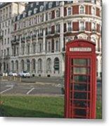 Titanic Hotel And Red Phone Box Metal Print