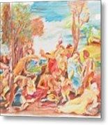Titian Bacchanalia Color Metal Print