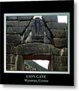 Titled Lion Gate Of Mycenae Metal Print