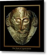 Titled Mask Of Agamemnon Metal Print