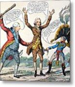 T.jefferson Cartoon, 1809 Metal Print