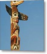 Tlingit Totem Pole Metal Print by Greg Vaughn - Printscapes