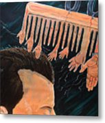 To Comb The Social Reactions Metal Print