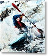 To Conquer White Water Metal Print