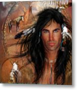 To Love A Warrior Metal Print