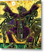 To The Beat Of The Drum Metal Print by Larry Poncho Brown