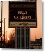 To The Bulls Game Metal Print